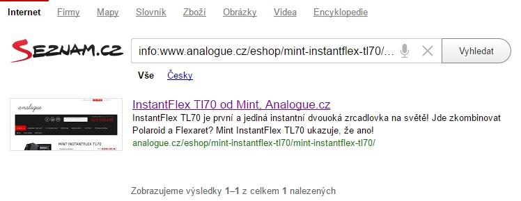 Jak poznám, že Seznam.cz indexuje mou URL
