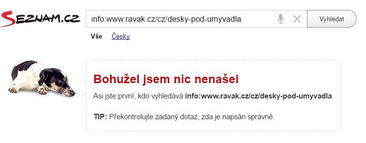 neindexovaná stránka na seznam.cz