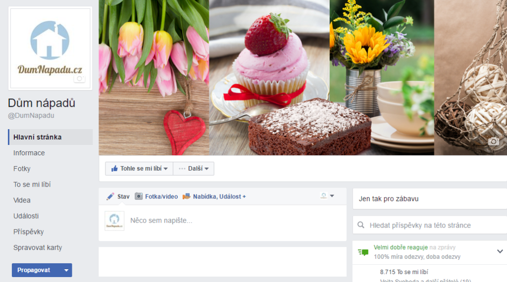 nový vzhled FB stránek srpen 2016